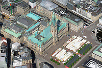 Hamburger Rathaus: EUROPA, DEUTSCHLAND, HAMBURG, (EUROPE, GERMANY), 08.07.2012:   Alsterfleet  Altstadt  architecture  Architektur   birds eye view  birds-eyes view  Blick Blick auf die Stadt  boerse  Buergermeister  Buergerschaft Bundesland  city  city hall  cultural heritage   Deutschland  Format  Germany  hamburg  Hanse town Hansestadt  Herkunft  Hochformat  Innenstadt  Jahreszeit Kultur  Kulturerbe  Kulturreise  Kurzurlaub  Luftaufnahme Luftbild  Luftbildfotografie  Luftfotografie  mayor  Neustadt overview  Rathaus  Rathausmarkt  Rathausturm Renaissance  Sehenswuerdigkeit  Senat  short holiday sights  Sommer  Stadt  Stadtblick  Stadtmitte  Stadtstaat Stadttourismus  Stadtzentrum  Staedtereise  summer  tourism Tousismus  town  town center  town centre  town hall Uebersicht  Umwelt  upright format  Vermerk  view view of the town  Vogelperspektive  weekend trip Wochenendausflug  Wochenendreise  Wochenendtrip Zentrum  Luftbild  aerial photo  aerial photography aerial picture