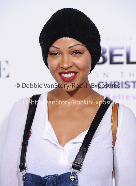 LOS ANGELES, CA - December 18: Meagan Good arrives at Justin Bieber`s Believe World Premiere held at The Premiere House at Regal Cinemas L.A. Live in Los Angeles, California on December 18,2013                                                                               © 2013 Hollywood Press Agency