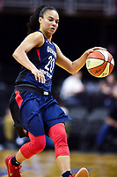 Washington, DC - June 15, 2018: Washington Mystics guard Kristi Toliver (20) in action during game between the Washington Mystics and Chicago Sky at the Capital One Arena in Washington, DC. (Photo by Phil Peters/Media Images International)