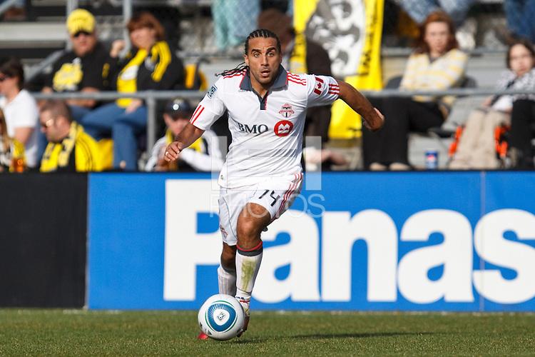 27 MARCH 2010:  Dwayne De Rosario of Toronto FC (14) during the Toronto FC at Columbus Crew MLS game in Columbus, Ohio on March 27, 2010. Crew defeated Toronto FC 2-0.