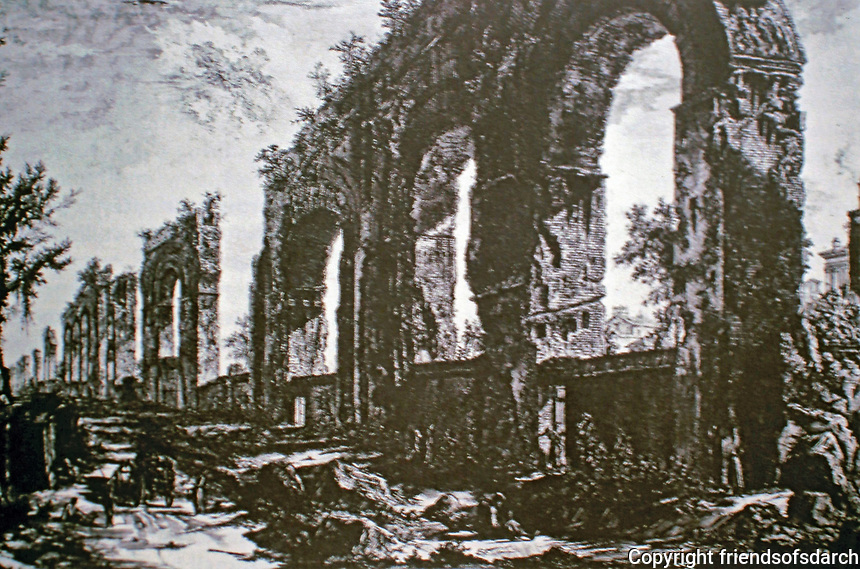 "Giovanni Battista (also Giambattista) Piranesi was an Italian artist famous for his etchings of Rome and of fictitious and atmospheric ""prisons"""