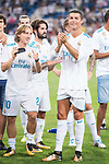Real Madrid's Luka Modric and Cristiano Ronaldo during XXXVIII Santiago Bernabeu Trophy at Santiago Bernabeu Stadium in Madrid, Spain August 23, 2017. (ALTERPHOTOS/Borja B.Hojas)