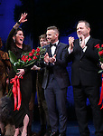 Diane Paulus, Garry Barlow and Harvey Weinstein during the Broadway Opening Night Performance curtain call for  'Finding Neverland'  at The Lunt-Fontanne  Theatre on April 15, 2015 in New York City.