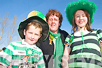 PARADE: Paudie, Noreen and Katie Horgan at the St Patrick's Day Parade in Milltown on Tuesday.