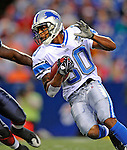 28 August 2008:  Detroit Lions' wide receiver Devale Ellis in action against the Buffalo Bills at Ralph Wilson Stadium in Orchard Park, NY. The Lions defeated the Bills 14-6 in their fourth and final pre-season game...Mandatory Photo Credit: Ed Wolfstein Photo