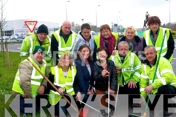 Volunteers around Kerry are getting ready to clean up across the county on April 12th which is Kerry County Clean Up today. <br /> Front L-R Terry Namock (Towards A Better Tralee), Gillian Wharton Slattery (Tralee Tidy Towns), Grace O'Donnell (Tralee Tidy Towns), Joan O'Regan (Tralee Tidy Towns), Mike O'Shea (Towards A Better Tralee) and Tommy Murphy (Towards a Better Tralee). <br /> Back L-R Francis Flanagan (Towards A Better Tralee), PJ Dollery (Towards a Better Tralee) Eileen Fitzgerald Moriarty (chairperson of Tralee Tidy Towns), Patsy Barrett (Tralee Tidy Towns), Gretta O'Rourke (secretary of Tralee Tidy Towns), Ann Connelly (Towards a Better Tralee supervisor and Friends of Able).