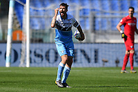 Francesco Acerbi of Lazio reacts during the Serie A 2018/2019 football match between SS Lazio and AC Chievo Verona at stadio Olimpico, Roma, April, 20, 2019 <br /> Photo Antonietta Baldassarre / Insidefoto
