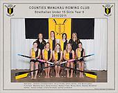 Counties Manukau  Rowing Club 2010/2011 Strathallan Under 15 girls squad photo.