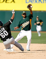 Gregorio Petit - Oakland Athletics - 2009 spring training.Photo by:  Bill Mitchell/Four Seam Images