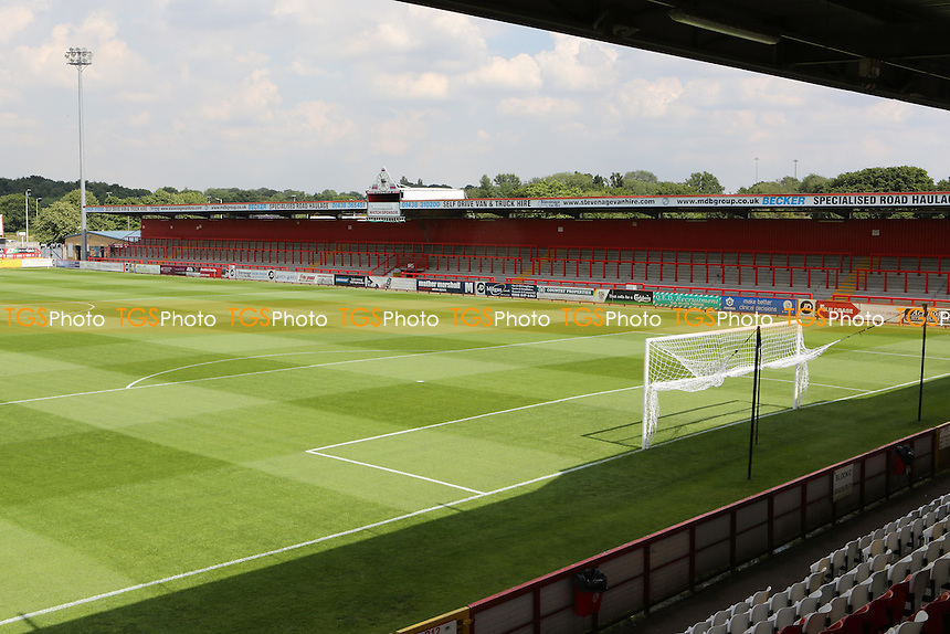 General view of Stevenage Borough FC during Stevenage vs Brighton and Hove Albion, Friendly Match Football at the Lamex Stadium on 23rd July 2016