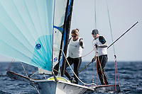 20140331, Palma de Mallorca, Spain: SOFIA TROPHY 2014 - 850 sailors from 50 countries compete at the ISAF Sailing World Cup event. 49erFX - USA816 - Debbie Capozzi / Molly O'Bryan Vandemoer. Photo: Mick Anderson/SAILINGPIX.