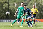 11.01.2019, Bidvest Stadion, Braampark, Johannesburg, RSA, FSP, SV Werder Bremen (GER) vs Bidvest Wits FC (ZA)<br /> <br /> im Bild / picture shows <br /> Kevin Möhwald / Moehwald (Werder Bremen #06) im Duell / im Zweikampf mit Keegan Ritchie (Bidvest Wits FC #27), <br /> <br /> Foto © nordphoto / Ewert