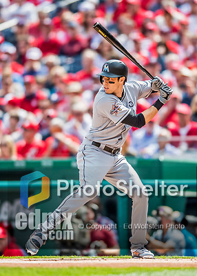 3 April 2017: Miami Marlins outfielder Christian Yelich faces the Washington Nationals on Opening Day at Nationals Park in Washington, DC. The Nationals defeated the Marlins 4-2 to open the 2017 MLB Season. Mandatory Credit: Ed Wolfstein Photo *** RAW (NEF) Image File Available ***