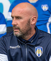 John McGreal manager of Colchester United during the EFL Sky Bet League 2 match between Barnet and Colchester United at The Hive, London, England on the 17th September 2016. Photo by Liam McAvoy.
