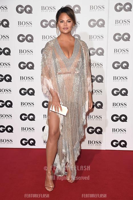 LONDON, UK. September 05, 2018: Chrissie Teigan at the GQ Men of the Year Awards 2018 at the Tate Modern, London