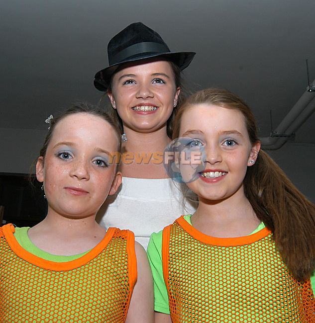 Grace Kelly, Laura Mc Evoy and Katie Mc Donnell taking part in the variety show in greenhills school, sponsored by Drogheda Concentrates.Photo: Colin Bell/Newsfile.(Photo credit should read Colin Bell/NEWSFILE)...This Picture has been sent you under the condtions enclosed by:.Newsfile Ltd..the Studio,.Millmount Abbey,.Drogheda,.Co Meath..Ireland..Tel: +353(0)41-9871240.Fax: +353(0)41-9871260.GSM: +353(0)86-2500958.email: pictures@newsfile.ie.www.newsfile.ie.FTP: 193.120.102.198..This picture is from Fran Caffrey@newsfile.ie