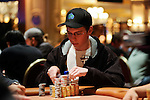 "Andrew ""LuckyChewy"" Lichtenberger is in the chip lead during the final level of play."