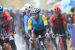 Riders including Alexey Lutsenko (KAZ) tackle the 9 laps of the Harrogate circuit during the Men Elite Road Race of the UCI World Championships 2019 running 261km from Leeds to Harrogate, England. 29th September 2019.<br /> Picture: Eoin Clarke | Cyclefile<br /> <br /> All photos usage must carry mandatory copyright credit (© Cyclefile | Eoin Clarke)
