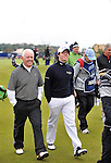 Pic Kenny Smith............. 02/10/2009.Dunhill Links Champioship, St Andrews  Links, Rory McIlroy appears relaxed as he walks down the 18th with his father Gerry by his side.
