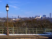 Mont&eacute;e de Clausen und Europazentrum auf dem Kirchberg, Luxemburg-City, Luxemburg, Europa<br /> Mont&eacute;e de Clausen and European centerMont&eacute;e de Clausen, Luxembourg City, Europe