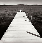 1978. Lake Sunapee, New Hampshire. Cate and Matisse at end of the dock.