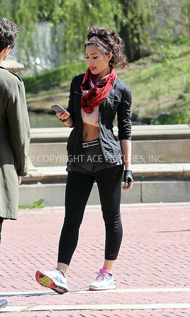 WWW.ACEPIXS.COM . . . . .  ....April 3 2012, New York City....Actress Natalie Mendoza on the Central Park set of the TV show 'Americana' on April 3 2012 in New York City....Please byline: Zelig Shaul - ACE PICTURES.... *** ***..Ace Pictures, Inc:  ..Philip Vaughan (212) 243-8787 or (646) 769 0430..e-mail: info@acepixs.com..web: http://www.acepixs.com