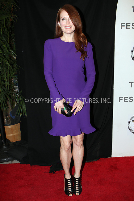 WWW.ACEPIXS.COM....April 26 2013, New York City......Actress Julianne Moore at the screening of 'The English Teacher' during the 2013 Tribeca Film Festival at BMCC Tribeca PAC on April 26, 2013 in New York City.....By Line: Nancy Rivera/ACE Pictures......ACE Pictures, Inc...tel: 646 769 0430..Email: info@acepixs.com..www.acepixs.com