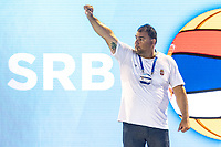 SRB Coach SAVIC Dejan  <br /> SRB -ESP Serbia (white caps) vs. Spain (blue caps) <br /> Barcelona 28/07/2018 Piscines Bernat Picornell <br /> Men Final 1st 2nd place <br /> 33rd LEN European Water Polo Championships - Barcelona 2018 <br /> Photo Andrea Staccioli/Deepbluemedia/Insidefoto