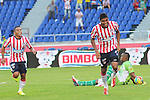 BARRANQUILLA – COLOMBIA _ 25-08-2013 / Junior de Barranquilla venció 2 – 1 a Atlético Huila en condición de local en compromiso correspondiente a la sexta jornada del Torneo Clausura Colombiano 2013. / Luis Carlos Ruiz celebra el primer tanto de Atlético Junior.