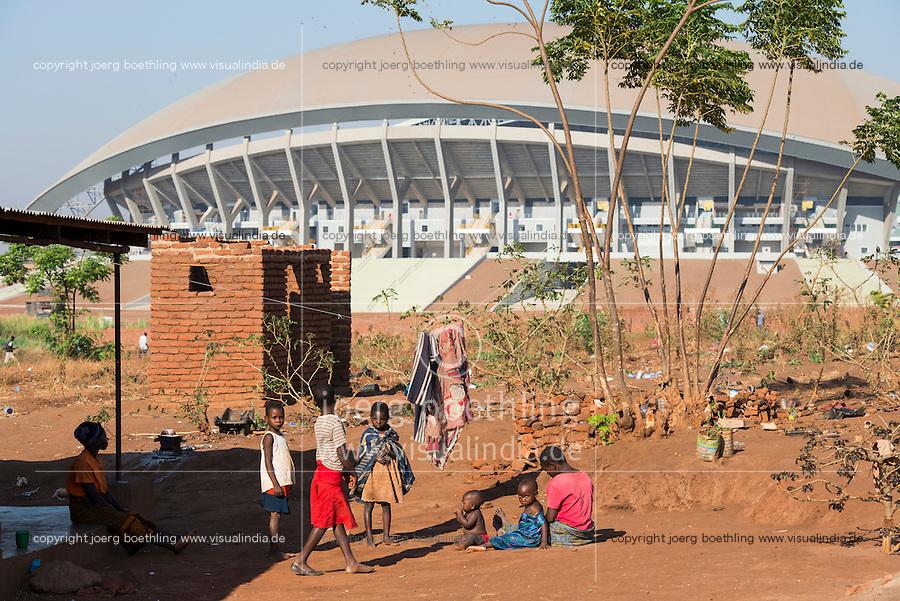 MALAWI, Lilongwe, stadium built by chinese / MALAWI, Lilongwe, Stadium, gebaut von chinesischer Baufirma