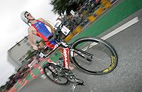 02 SEP 2007 - HAMBURG, GER - William Martin (USA) - World Age Group Triathlon Championships. (PHOTO (C) NIGEL FARROW)