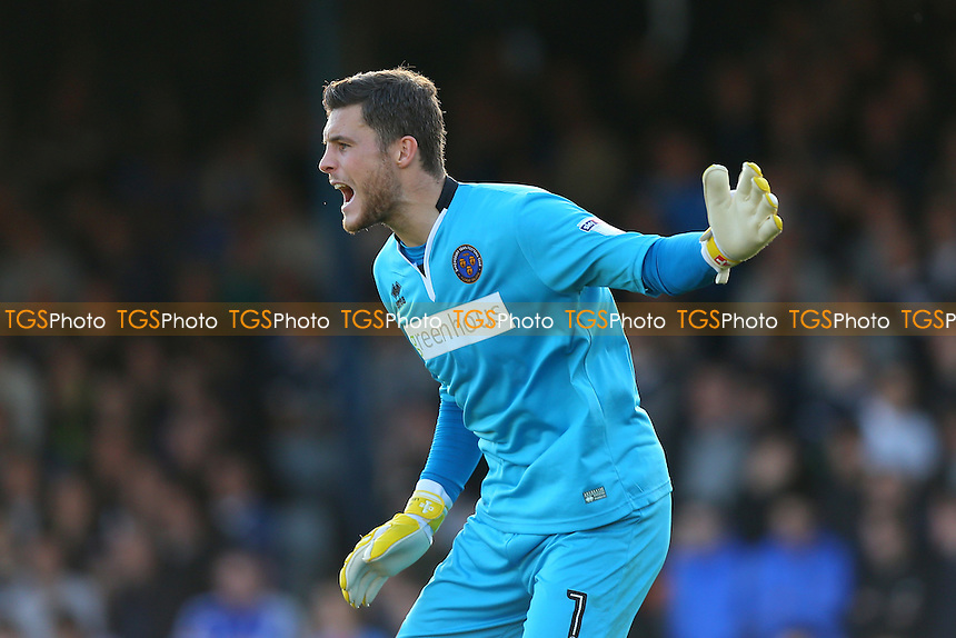 Jayson Leutwiler of Shrewsbury Town during Southend United vs Shrewsbury Town, Sky Bet EFL League 1 Football at Roots Hall on 29th October 2016