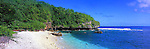 Niue Island Panorama - Avatele beach on the island on Niue<br /> <br /> Image taken on large format panoramic 6cm x 17cm transparency. Available for licencing and printing. email us at contact@widescenes.com for pricing.