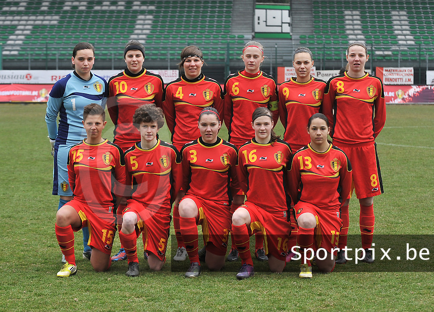 Belgium U19 - Switzerland U19 : Belgian Team.foto DAVID CATRY / Nikonpro.be