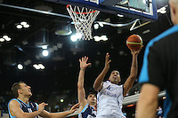 GB's Kieron Achara in action during the EuroBasket 2015 2nd Qualifying Round Great Britain v Bosnia & Herzegovina (Euro Basket 2nd Qualifying Round) at Copper Box Arena in London. - 13/08/2014