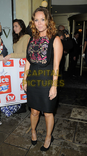 Charlie Brooks<br /> The TV Choice Awards 2013, The Dorchester Hotel, London, England.<br /> 9th September 2013<br /> full length pink purple pattern dress skirt top<br /> CAP/CAN<br /> &copy;Can Nguyen/Capital Pictures