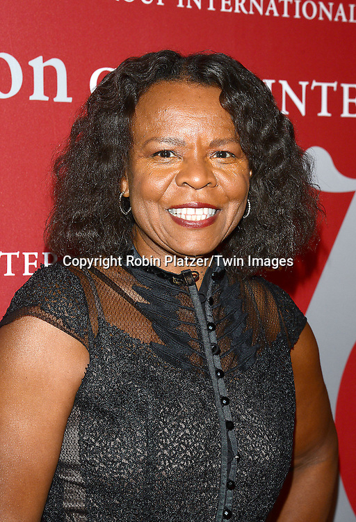 Teri Agins attends the 31st Annual Night of Stars &quot;The Protagonists&quot;<br /> presented by The Fashion Grouip International on October 23, 2014 at Cipriani Wall Street in New York City. <br /> <br /> photo by Robin Platzer/Twin Images<br />  <br /> phone number 212-935-0770