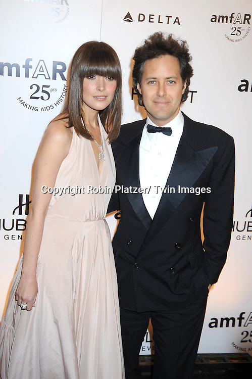 Rose Byrne and David Lauren attending the amfAR New York Gala on February 9, 2011 at Cipriani Wall Street in New York City. Dame Elizabeth Taylor, President Bill Clinton and Diane von Furstenberg were honored.