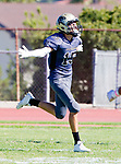 Palos Verdes, CA 09-07-18 - Chris Jarrin (Peninsula #15) in action during the Torrance - Palos Verdes Peninsula Varsity football game.