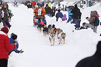 Jake Berkowitz Saturday, March 3, 2012  Ceremonial Start of Iditarod 2012 in Anchorage, Alaska.