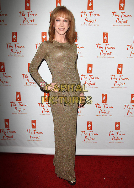 KATHY GRIFFIN .Trevor Live Benefiting The Trevor Project held At The Hollywood Palladium, Hollywood, CA, USA,.5th December 2010..full length long sleeve belt  maxi sparkly chain dress plastic surgery .CAP/ADM/KB.©Kevan Brooks/AdMedia/Capital Pictures.