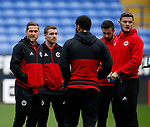 Sheffield Utd players take a look at the pitch before the Championship match at the Macron Stadium, Bolton. Picture date 12th September 2017. Picture credit should read: Simon Bellis/Sportimage