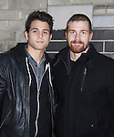 Lenny Platt and Josh Kelly on the last day of shooting of The Soap Opera One Life To Live at the One Life To Live Studio on November 18, 2011, New York City, New York. (Photo by Sue Coflin/Max Photos)