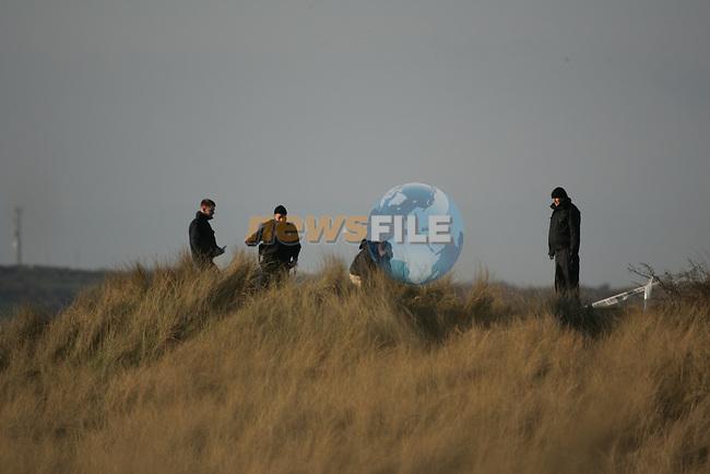 Garda Techinical Team examine the scene of where Roy coddington was shot dead in Mornington Co Meath..Photo: Fran Caffrey/ Newsfile.