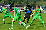20.07.2017, Sportplatz Birkenmoos, Rottach-Egern, GER, FSP, Borussia M&ouml;nchengladbach vs OGC Nizza, im Bild Nils R&uuml;tten / Ruetten (Gladbach #36), Mike Feigenspan (Gladbach #15), Vincent Marcel (Nizza #19), Oscar Wendt (Gladbach #17)<br /> <br /> Foto &copy; nordphoto / Hafner
