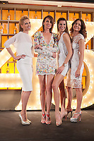 Spanish models (L-R) Judit Masco, Nieves Alvarez, Laura Sanchez and Jose Toledo pose during Licor 43 presentation in Madrid, Spain. January 29, 2015. (ALTERPHOTOS/Victor Blanco) /nortephoto.com<br />