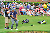 Kevin Kisner (USA) barely misses his birdie putt on 16 during round 4 of the Dean &amp; Deluca Invitational, at The Colonial, Ft. Worth, Texas, USA. 5/28/2017.<br /> Picture: Golffile | Ken Murray<br /> <br /> <br /> All photo usage must carry mandatory copyright credit (&copy; Golffile | Ken Murray)