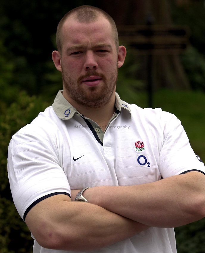 Photo. Richard Lane. .England Squad Press Conference at Pennyhill Hotel, Bagshot. 05/03/2003.Robbie Morris..