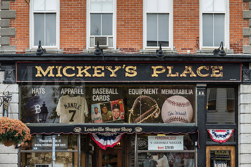 Mickey's Place baseball memorabilia and souvenir shop, Cooperstown, New York, USA