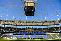 Innenraum der Commerzbank Arena - 16.05.2020, Fussball 1.Bundesliga, 26.Spieltag, Eintracht Frankfurt  - Borussia Moenchengladbach emspor, v.l. Stadionansicht / Ansicht / Arena / Stadion / Innenraum / Innen / Innenansicht / Videowall<br /> <br /> <br /> Foto: Jan Huebner/Pool VIA Marc Schüler/Sportpics.de<br /> <br /> Nur für journalistische Zwecke. Only for editorial use. (DFL/DFB REGULATIONS PROHIBIT ANY USE OF PHOTOGRAPHS as IMAGE SEQUENCES and/or QUASI-VIDEO)